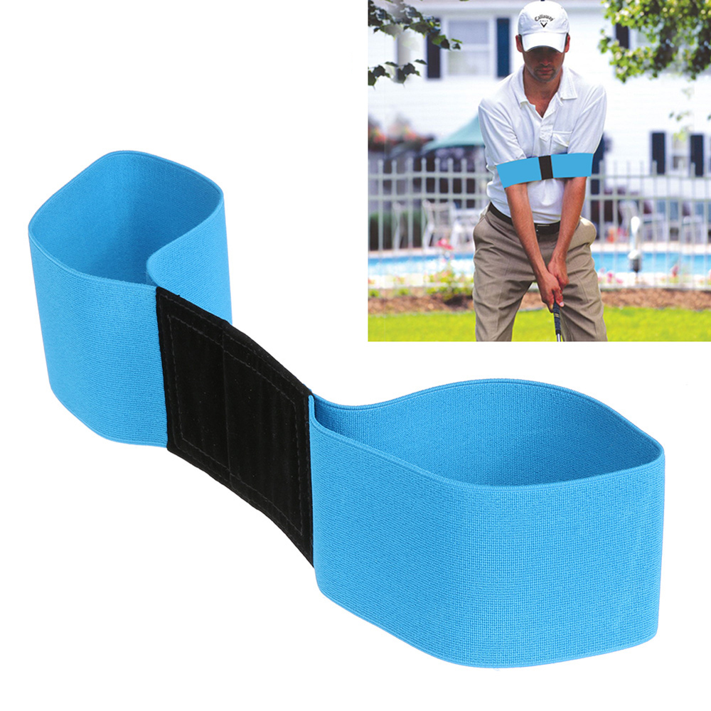 Golf Swing Trainer eginner Practicing Guide Gesture Alignment Training Aid Aids Correct Swing Trainer Elastic Arm Band Belt(China)