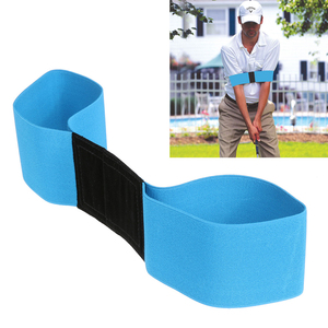 Golf Swing Trainer Eginner Beoefenen Gids Gebaar Alignment Training Aid Aids Juiste Swing Trainer Elastische Arm Band Riem(China)