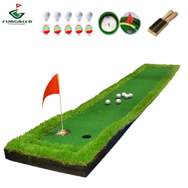 FUNGREEN 50x300CM Mini Golf Putting Green Indoor Outdoor Backyard Protable Golf Practice Putting Trainer Mat for Golfers-in Golf Training Aids from Sports & Entertainment