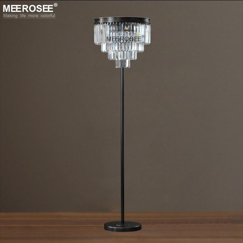 Винтажная Хрустальная Напольная Лампа, люстры, напольная подставка, осветительная арматура, хрустальные канделябры, стоящая лампа, высокое
