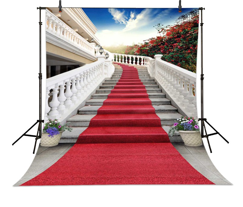 red carpet wedding backgrounds for photography digital photo backdrop white stair for chuch backgrounds studio fotografia