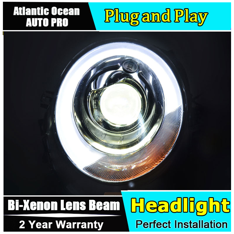 new head light car styling For BMW MINI F56 headlights 2014 2018 For BMW MINI Bi xenon Double lens HID KIT led drl head lamps-in Car Light Assembly from Automobiles & Motorcycles    1