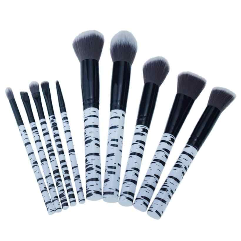 10 Pcs Marmor Make-Up Pinsel Set Gesicht Lidschatten Eyeliner Pulver Foundation Erröten Lip Pinsel Professional Make-up Pinsel H30423