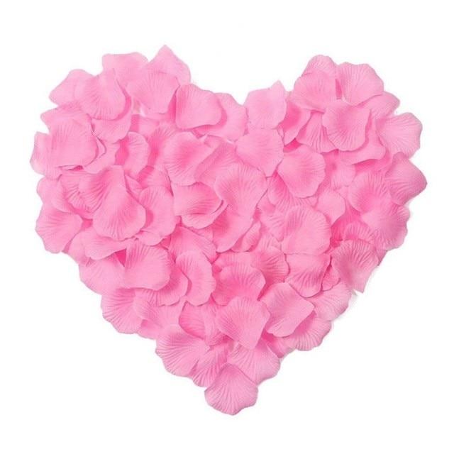 2000 шт. / партия 5* 5 см шелковые лепестки роз на свадьбу, Романтические искусственные лепестки роз Свадебные розы - Цвет: Pink