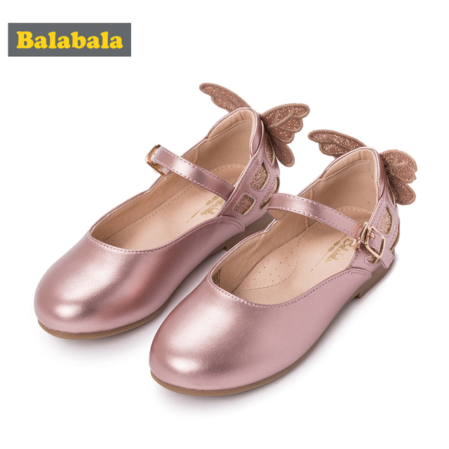 Child Girls Princess Shoes Childlike Fashion Electric Embroidery Bow Design Soft Breathable Dance Dress Shoes for Girls Easy Wea