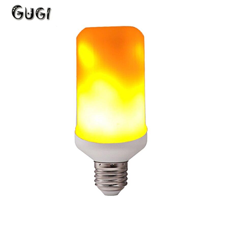 GUGI Lame effet lumière LED Blub E27 E22 7W feu lampe à LED flamme LED création décorative scintillement lampe lumières émulation LED ampoule