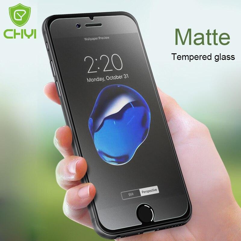 cb29b82fde9 Vidrio mate CHYI para Iphone 7 Plus 6 plus Anti huellas oleófobas  recubrimiento 9 H Protector de pantalla de vidrio para iphone 8 plus en  Protectores de ...