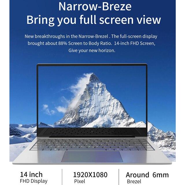 """Jumper EZbook X4 Pro Laptop 14"""" FHD Display Intel Core i3-5005U 8GB 256GB SSD Notebook Dual Band Wifi Win 10 Ultraslim Computer 3"""