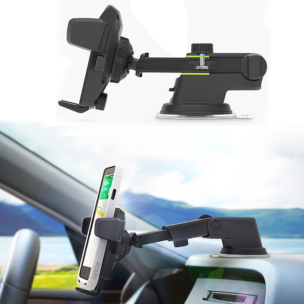 Easy One Touch Extendable Arm Car Dashboard Windshield Mobile Phone Mount Holder