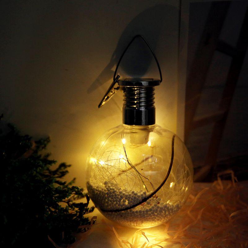 2018 solar powered round bulbs led lights christmas tree decoration lights hanging lights in. Black Bedroom Furniture Sets. Home Design Ideas