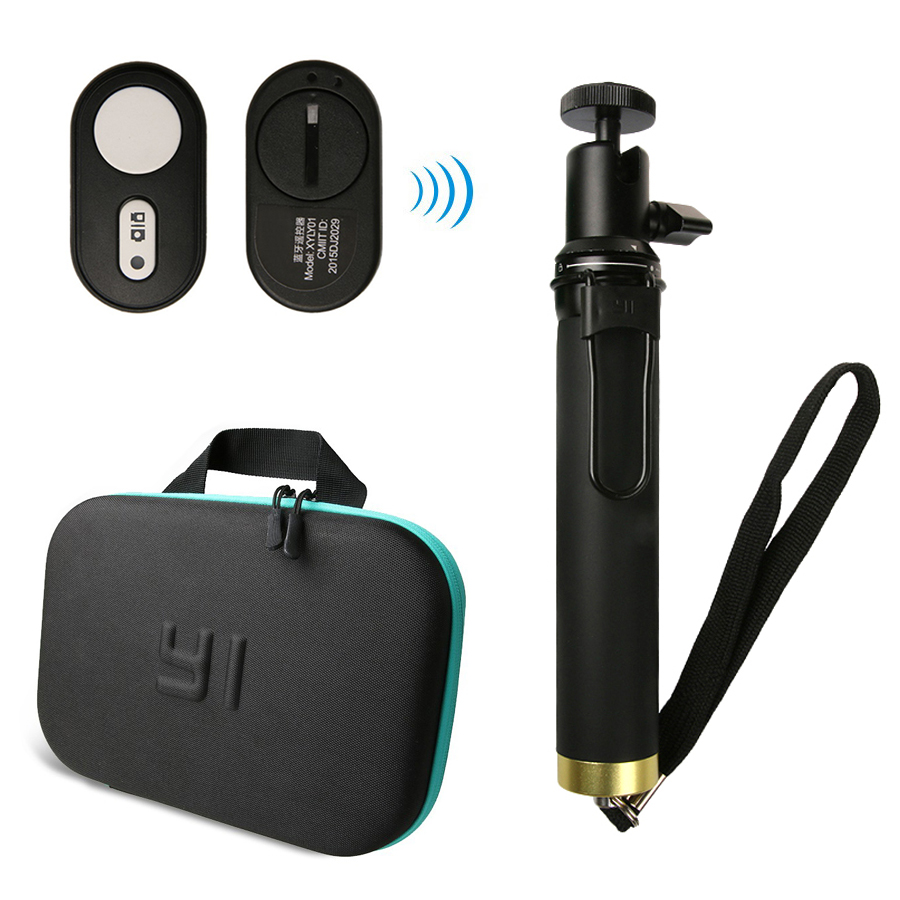 Action Camera bag For Xiaomi Yi Bluetooth Extendable Monopod Remote Control Selfie Stick For Xiaomi YI Xiaoyi 4K 4k+ Yi Lite merlin selfie stick lite