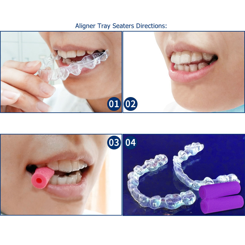 2pcs Bite Stick Correcting Orthodontic Braces Oral Care Perfect Smile Veneers Brackets Dental Ortodoncia Teeth Whitening