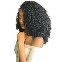 3B 3C Kinky Curly Clip In Human Hair Extensions 100% Natural Hair Clip Ins 120g Brazilian Remy Hair 7Pcs/Set Full Head