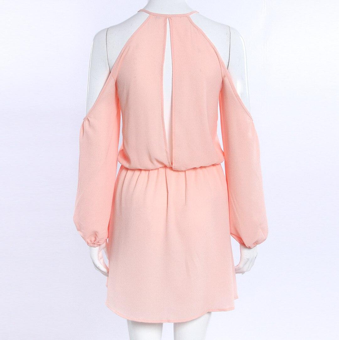 2017 moda verano vestido abierto hombro de manga larga mujeres de la ...