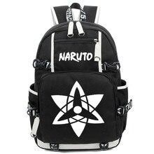 Japan Anime Naruto Write Round Eye Shoulder Bags for Students Casual Women Men Large Rucksack Laptop Backpack Free Shipping