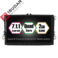 Android 7 1 1 Two Din 9 Inch Car DVD GPS Video Player For VW Volkswagen