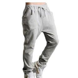 Модные Для мужчин S Повседневное падение ctotch Треники хлопковые штаны-шаровары Слаксы Повседневное Jogger Танец Sportwear мешковатые Для мужчин