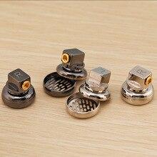 2 sztuk dostosowane 15.4MM obudowa słuchawek MMCX odpinany Jack czystej miedzi płaskie słuchawki Shell przypadki DIY