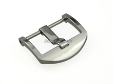 22mm Support Wholesale Pre V Screw Thumbnail Buckle Silver polished 316L Stainless Steel for Watch Strap