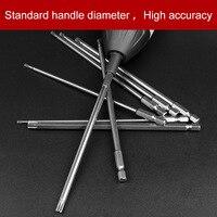 8Pcs 8 Sizes Electric 150mm Long 1 4 Inch Hex Shank Magnetic Torx Screwdriver Bits Set