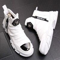 Новинка; ботильоны ручной работы для молодых мужчин; модные зимние ботинки из натуральной кожи; Мужская брендовая Дизайнерская обувь наивы...