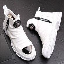 Miękkie skórzane buty dla człowieka Trend 2020 zimowe ciepłe buty na śnieg wodoodporne mężczyźni X #15/10D50