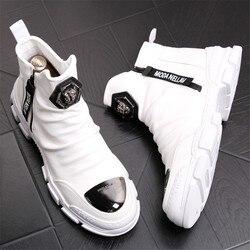 Novas botas de tornozelo artesanais para jovens botas de neve moda de couro genuíno super qualidade homens marca designer sapatos 4 #15/03d50