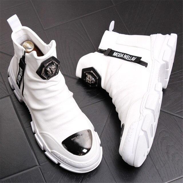 Yumuşak deri çizmeler erkek Trend 2020 kış sıcak kar botları su geçirmez erkek ayakkabısı X #15/10D50