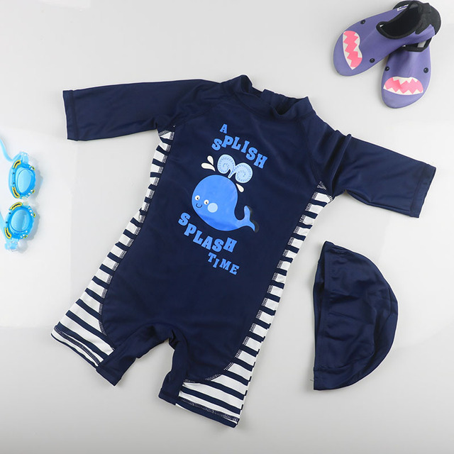42b57d241d6a5 New Professional Baby Boys Swimsuit Children Girl Kid One-Piece Swimming  Suit Sports Racing Swimwear UV Prodection Swimwear