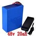 48 V 2000 W батарея 48 v 20ah электрическая велосипедная батарея 48 V 20AH литиевая батарея с 50A BMS + 54 6 V 2A зарядное устройство Бесплатная таможенная пошл...
