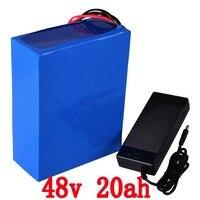 48 V 2000 W 48 V 20AH 48 v 20ah bicicleta elétrica da bateria da bateria bateria De Lítio com BMS 50A + 54.6 V carregador 2A Livre de direitos aduaneiros