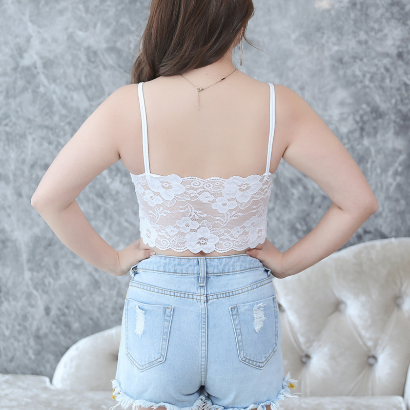 ab744c466f0 Women Lace Bra Plus Size Women Bralette Bra Female Tops 2018 Hot Sale  Female bras Strap Wrapped Chest Shirt Top New Underwear