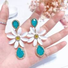 Exaggerated Flower Drop Earrings For Women 2019 New Dangling Big Trendy Jewelry Top Quality