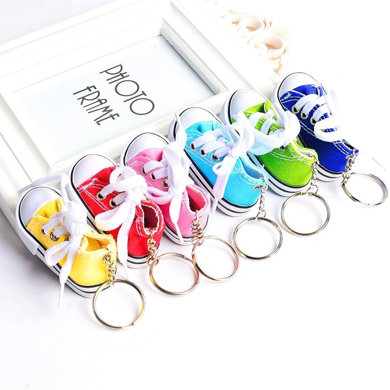 Takı ve Aksesuarları'ten Anahtar Zincirleri'de DHL TARAFıNDAN ÜCRETSIZ NAKLIYE 100 adet/grup Sıcak satış 3d mini ayakkabı sneaker anahtarlık toptan'da  Grup 1