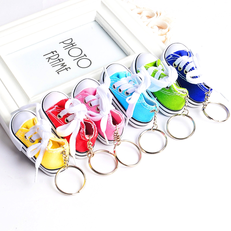 FREE SHIPPING BY DHL 100pcs/lot Hot sale 3d mini shoe sneaker keychain wholesale-in Key Chains from Jewelry & Accessories    1