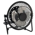 YOC-5 psc Sale 4-inch 360-degree Rotating USB Powered Metal Electric Mini Desk Fan for PC /Laptop /Notebook (Black)