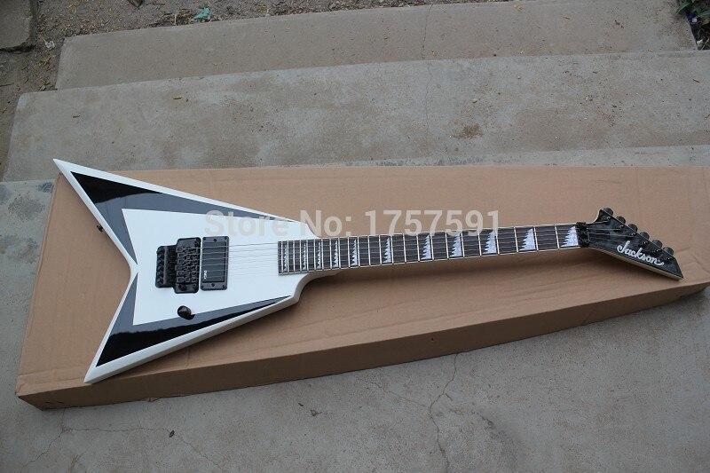 Gainer queue d'aronde guitare électrique blanc Jackson Flying V guitare électrique de haute qualité Instruments de Musique