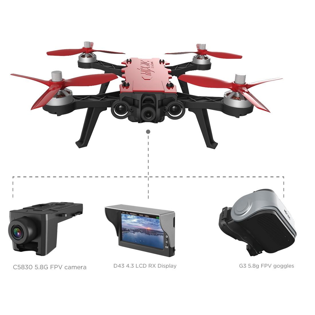 MJX Bugs 8 Pro B8 B8PRO De Course Haute Vitesse Sans Balais RC Drone avec 5.8g HD 720 p Caméra FPV hélicoptères RC Traversant Machine Dron