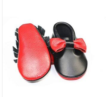 253bbc85e8d Hot Selling Red bottom Sole Baby Moccasins Genuine Leather Bow Fringe baby  boy girls Shoes Newborn Infant Moccasins First Walker