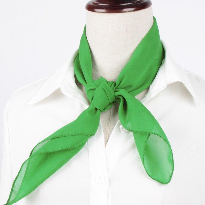 7dd0097eb Women Mini Soft Chiffon Neck Scarf Solid Plain Multiple Color Bandana Square  Neckerchief 60CM Fashion Accessories 038 435-in Women's Scarves from  Apparel ...
