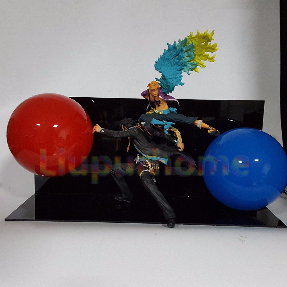 One Piece Ace Marco Teamwork Fighting Led Lighting One Piece Anime Lampara led Night Lights Table Lamp Home Decor anime one piece devil fruit ace flame flame fruit