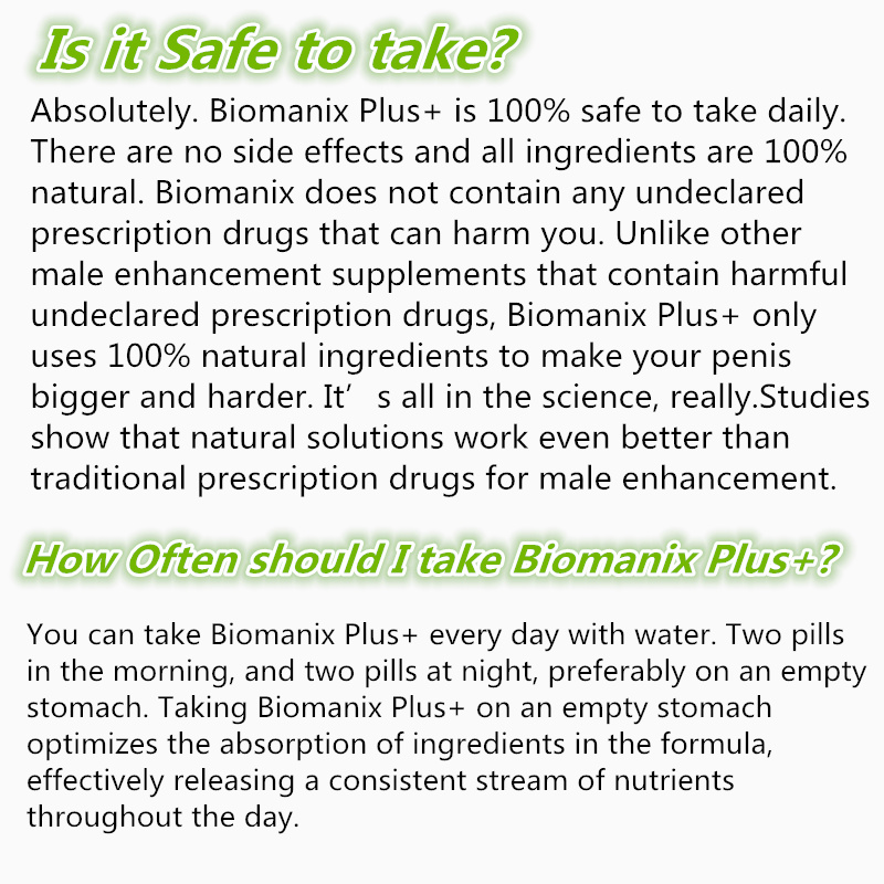 biomanix plus safety man s enlargement male performance