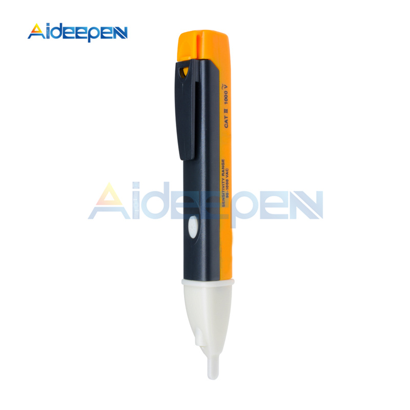 AC 90-1000V Voltage Test Pen Socket Wall AC Power Outlet Voltage Detector Sensor Tester Pen 110V 220V LED Light Indicator