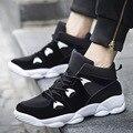 2016 Моды для Мужчин высокие Ботинки Воздухопроницаемой Сеткой Повседневная Обувь на шнуровке Хип-Хоп Обувь Черный Корзины Chaussure Homme zapatillas XX217