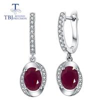 TBJ, классический дизайн, африканская Рубиновая застежка, серьги, натуральный драгоценный камень, серебро 925 пробы, хорошее ювелирное изделие для женщин, вечерние, подарок