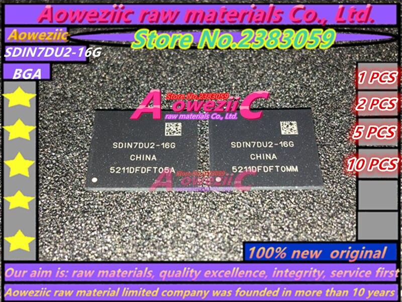 Aoweziic   100% New Original  SDIN7DU2 16G SDIN7DU2-16G  BGA  Memory Chip
