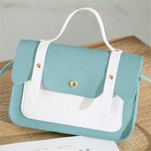 2019 New Small Crossbody Bag Japan South Korea Pu Mini Handbag Casual Color Square Shoulder Messenger Mobile Phone Simple Space