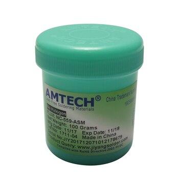 100% Original 100g Lead-Free Solder Flux Paste AMTECH NC-559-ASM for bga reballing soldering station repair