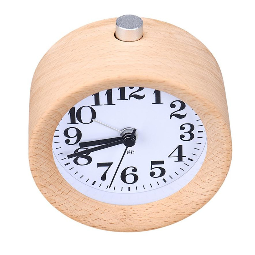 High Quality Creative Small Round Classic Wood Silent Desk Travel Alarm  Clock With Nightlight China. Popular Small Travel Alarm Clock Buy Cheap Small Travel Alarm