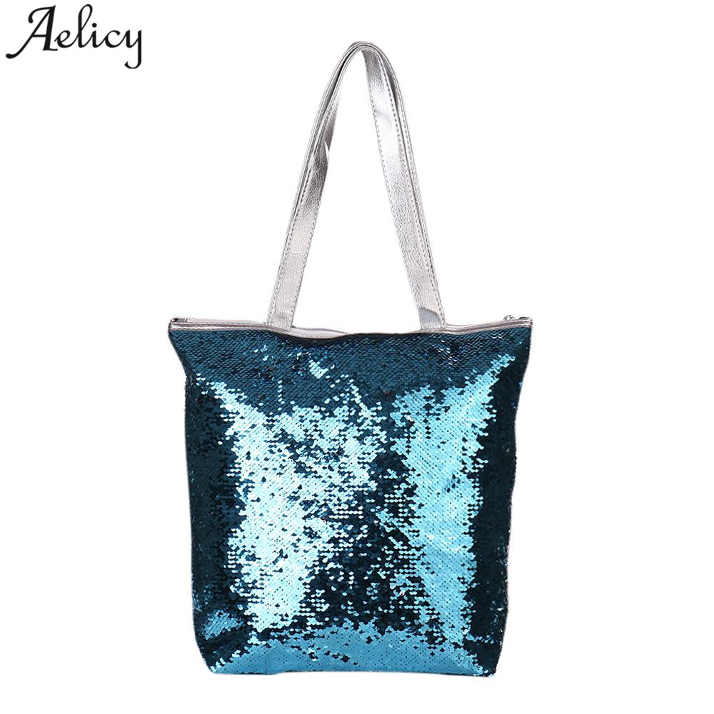 Aelicy Fashion New Sequins Glitter Mermaid Women Shoulder Bag Mermaid Glitter Casual Totes Handbags Casual Women BagsAelicy Fashion New Sequins Glitter Mermaid Women Shoulder Bag Mermaid Glitter Casual Totes Handbags Casual Women Bags
